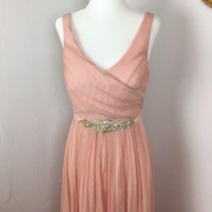 J crew silk gown